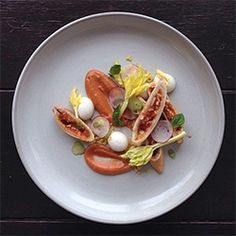Chef Jacques La Merde is an amazing instagram that is ALL about the plating... of junk/processed foods! (Yes, those are Hot Pockets with Hidden Valley Bacon Ranch spheres.)