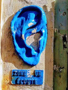 'The man's ear.' Street art in Paris.