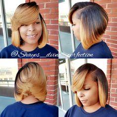 """Bonded Quick Weave Layered Bob  IG: Shayes_dvine_perfection FB: Shayes D'vine Perfection Www.styleseat.com/shalandawilliams2 """"Come Get Shayed & Slayed"""""""