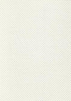 Bomuld m/sølv-prikker, off-white
