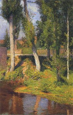 By the River, 1884 - Henri Martin - WikiArt.org