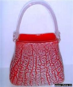 glass purse vase - Bing images