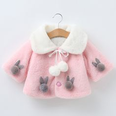 Baby Coat Infant Autumn Winter Jackets Girl Thick Warm Clothes Cute Hooded Coat Cloak Jacket Fashion Casual Outwear 2019 New Baby Outfits Newborn, Baby Boy Outfits, Kids Outfits, Toddler Outfits, Girls Winter Coats, Kids Coats, Little Girl Outfits, Little Girl Fashion, Baby Girl Winter