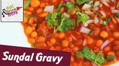 Sundal Gravy - Chole Bhature Recipe | South Indian Main Course Recipe