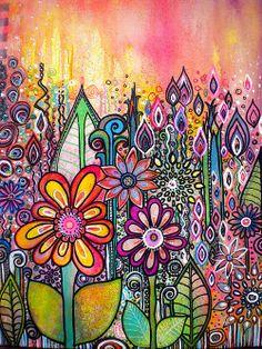 Wild Flowers Print By Robin Mead $32.00