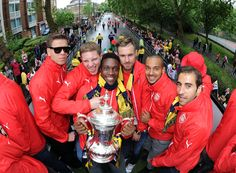 Check out our images of the squad from Arsenal's victory parade in Islington Arsenal Players, Arsenal Football, Arsenal Fc, Victory Parade, Best Club, Fa Cup, North London, Soccer Players, Victorious