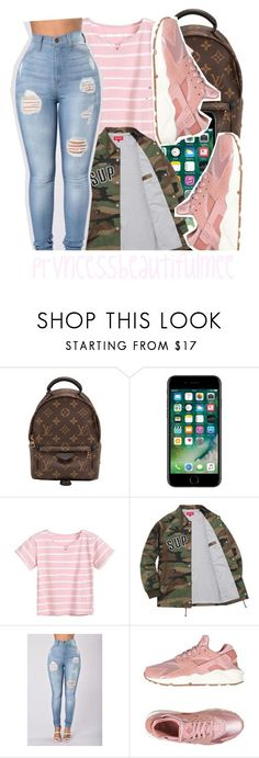 """draft ..."" by prvncessbeautifulmee on Polyvore featuring Louis Vuitton and NIKE"