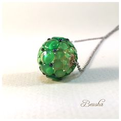 Beautiful Lampwork bead Necklace Etsy-Shop https://www.etsy.com/de/listing/385371506/statement-necklace-green-necklace-simple