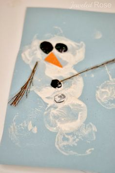 Snowman Potato Printing ~ Growing A Jeweled Rose