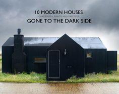 10 Modern Houses Painted Black l Gardenista