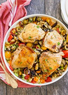 Sheet Pan Chicken with Roasted Eggplant Caponata Recipe