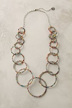Beads crocheted onto hoops with wire