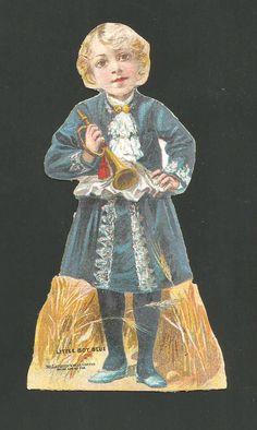 Trade Card McLaughlin's XXXX Coffee Little Boy Blue Figure *117