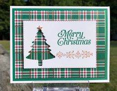 Stampin' Up! perfectly plaid, - Stampin' Up! perfectly plaid, Stampin' Up! Simple Christmas Cards, Homemade Christmas Cards, Christmas Cards To Make, Xmas Cards, Homemade Cards, Handmade Christmas, Plaid Christmas, Christmas 2019, Holiday Cards