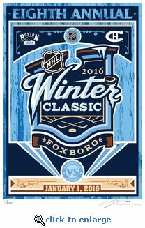 2016 Winter Classic Hand Made Limited Edition Screen Print #bostonbruins #canadiens #2016winterclassic