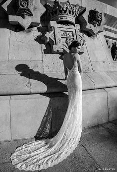 gali karten 2017 bridal spaghetti strap v neck full embellishment elegant sheath wedding dress open back chapel train (6) bv
