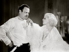 Jean Harlow and Wallace Beery in Dinner at Eight 1933