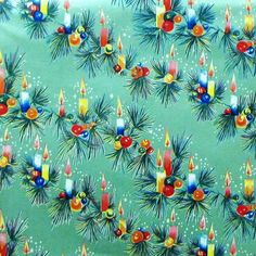 vintage wrapping paper   Vintage Christmas Paper Gift Wrap Candles Christmas
