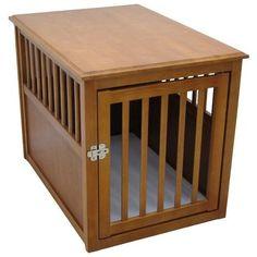Crown Pet Products Dog Crate Table - Medium/Espresso CPP-M-ESP