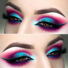 Consigue un maquillaje impactante con #Sugarpill #velocity #sweetheart #Palette #pink #blue #eyes