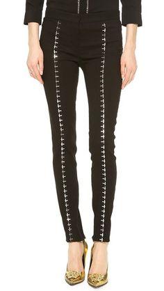 Versace Hook & Eye Seamed Pants