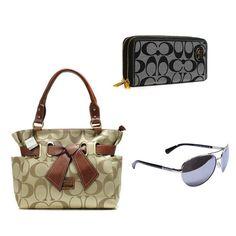 Coach 3 items bag + Wallets + Sunglasses Value Spree