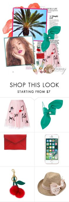 """""""- hot summer"""" by a-shaykhina ❤ liked on Polyvore featuring P.A.R.O.S.H., Rebecca Minkoff, Apple, Anya Hindmarch and Preen"""