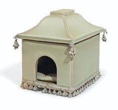 Christie's New York: The Private Collection of Joan Rivers, silk upholstered dog house