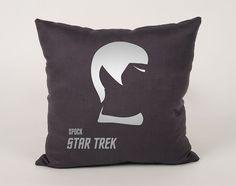 Star Trek Spock Cotton throw Pillow Cover  16x16 18x18 by Daneeyo