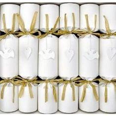 Christmas Crackers ~ White Natural Shabby Chic Crackers Rustic Doves & Hearts ~ Country gifts and homeware ~ Christmas Crackers ~ White Natural Shabby Chic Crackers Rustic Doves & Hearts Cottage Christmas, Rustic Christmas, White Christmas, Christmas Ideas, Christmas Crafts, Holiday Ideas, Christmas Time, Christmas Ornaments, Scandinavian Christmas Decorations