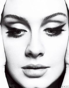 Title: One and Only Magazine: Vogue US March 2012 Model: Adele Photographers: Mert Alas & Marcus Piggott Stylist: Tonne Goodman Adele Adkins, Alas Marcus Piggott, Make Up Inspiration, Vogue Us, Tips Belleza, Vogue Magazine, Famous Faces, Black And White Photography, Beautiful People