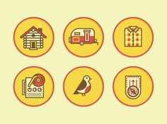 Vintage inspired icons!