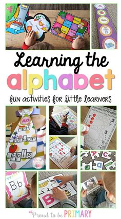 Fun activities, learning ideas, and resources to help children in preschool and Kindergarten learn their alphabet and letter sounds and develop their phonics skills! Kindergarten Learning, Preschool Literacy, Preschool Letters, Literacy Activities, Early Literacy, Abc Learning, Teaching Resources, Teaching Ideas, Teaching The Alphabet