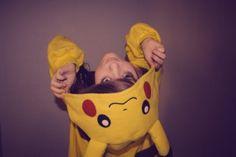 Pikachu costume.