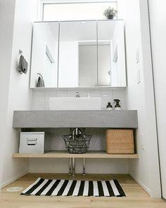 Japanese Interior, Tiny Spaces, Washroom, Powder Room, Interior Design Living Room, Double Vanity, Sweet Home, House, Home Decor