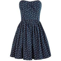 Jack Wills Merrifield Dress (175 AUD) ❤ liked on Polyvore featuring dresses, vestidos, robes, short dresses, anchr prnt, blue mini dress, ruched cocktail dress, vintage style dresses, floral mini dress and blue dress