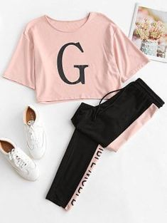Cute Lazy Outfits, Teenage Outfits, Sporty Outfits, Swag Outfits, Outfits For Teens, Stylish Outfits, Matching Outfits, Girls Fashion Clothes, Teen Fashion Outfits