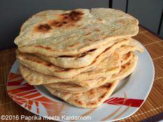 Naan-Brot aus der Pfanne