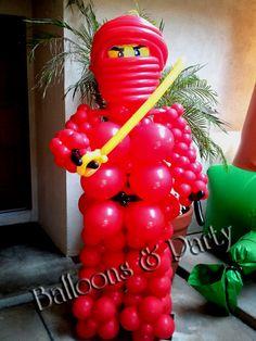 balloon sculpture ideas | Red Ninjago Balloon Sculpture - Balloons N Party Decorations Orange ...