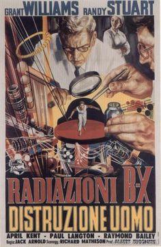Radiazioni BX: distruzione uomo (The Incredible Shrinking Man) è un film del 1957 diretto da Jack Arnold e scritto da Richard Matheson. https://it.wikipedia.org/wiki/Radiazioni_BX:_distruzione_uomo