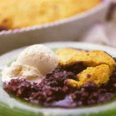 Cinnamon-Cornbread Cobbler with Blueberries. This sounds different and delicious!