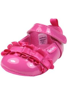 Baby Girl Mary Jane Dress Party Shoes with Ruffle Bows by Gerber - Hot Pink - 1 Infant / Up To 3 Mths Gerber http://www.amazon.com/dp/B00IPVP9MK/ref=cm_sw_r_pi_dp_J8wyvb0QKXWWN
