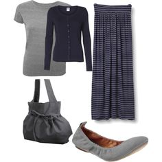 """""""Grey & Navy"""" by holiness-preachers-wife on Polyvore"""