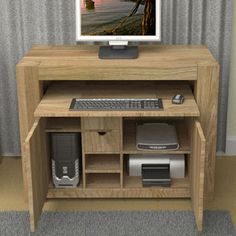 atlas chunky oak hidden home. baumhaus atlas chunky oak hidden home office hideaway l