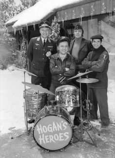 Hogan's Heroes: Newkirk, Klink, Hogan and ''ohh, my delicious small one'' LeBeau.