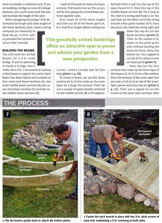 #2108 Backyard Bridge Plans - Outdoor Plans