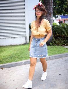 #VemProvar #ProveiEAprovei Plus Size Jeans, Lingerie, Moda Online, Denim Skirt, Ideias Fashion, Skirts, Fashion Stores, Outfit Store, Brazilian Women