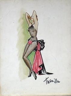 William Travilla's sketch for Marilyn Monroe