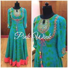 Kurtis neck designs for your stylish look – Simple Craft Ideas Churidar Designs, Kurta Designs Women, Blouse Designs, Dress Designs, Indian Gowns Dresses, Pakistani Dresses, Woman Dresses, Indian Attire, Indian Outfits
