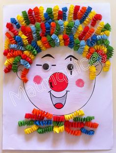 Purim Purim diy crafts for kids outdoors - Kids Crafts Kids Crafts, Clown Crafts, Circus Crafts, Summer Crafts For Kids, Preschool Crafts, Projects For Kids, Diy For Kids, Art Projects, Diy And Crafts